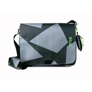 BREE PUNCH 49 BLACK/GREY - černá/šedá messenger taška