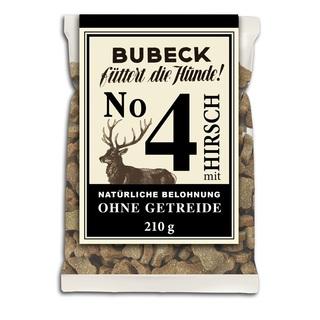 BUBECK Nr.4 Hirsch - přírodní pamlsek s jelením masem bez obilovin (210g)