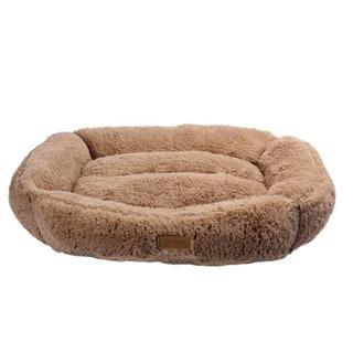 """HPF BROWNIE (velikost """"S"""") - krémový chlupatý pelíšek pro psy"""