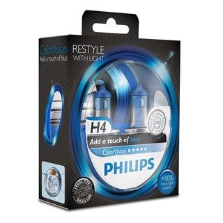 Philips H4 ColorVision modrá 2 ks - autožárovka