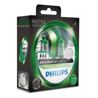 Philips H4 ColorVision zelená 2 ks - autožárovka