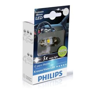 Philips Interiérová LED žárovka X-tremeVision 10,5x38 4000K (1 ks) - autožárovka