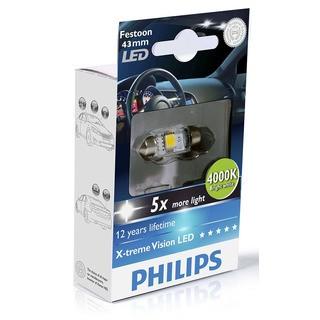 Philips Interiérová LED žárovka X-tremeVision 10,5x43 4000K (1 ks) - autožárovka