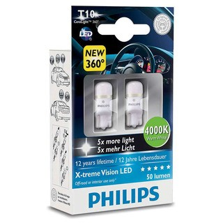 Philips Interiérová LED žárovka X-tremeVision 4000K (2 ks) - autožárovka