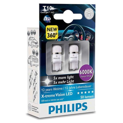 Interiérová LED žárovka X-tremeVision 6000K (2 ks) - autožárovka