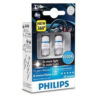 Philips Interiérová LED žárovka X-tremeVision 8000K (2 ks) - autožárovka