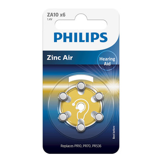 Philips baterie do naslouchadla (ZA10B6A/10, 6ks)