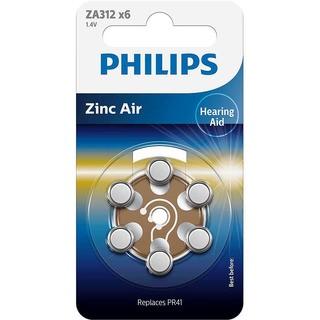 Philips baterie do naslouchadla (ZA312B6A/10,6ks)