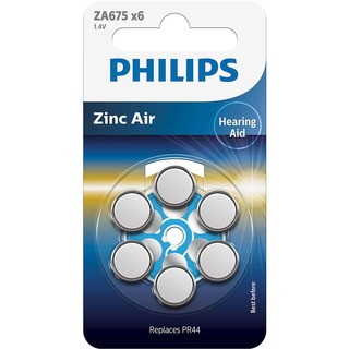 Philips baterie do naslouchadla (ZA675B6A/10,6ks)