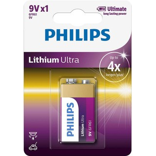 Philips baterie LITHIUM ULTRA 1ks (6FR61LB1A/10, 9V)