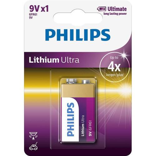 baterie LITHIUM ULTRA 1ks (6FR61LB1A/10, 9V)