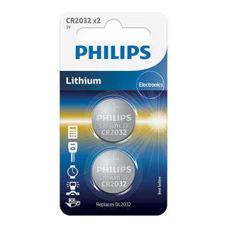 Philips baterie LITHIUM (CR2032/01B, CR 2032, 2ks)