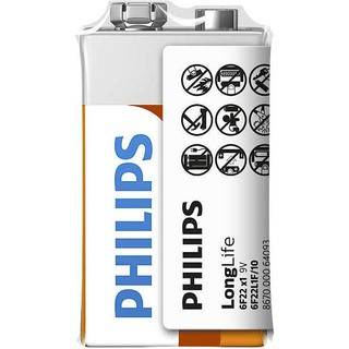 Philips baterie LONG LIFE 1ks folie (6F22L1F/10, 9V)