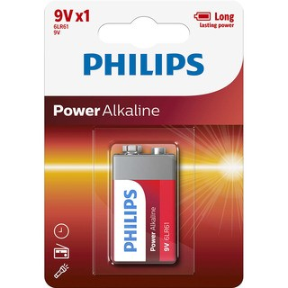 Philips baterie POWER ALKALINE (6LR61P1B/10, 9V)