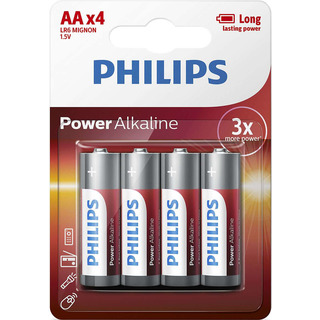 Philips baterie Power Alkaline 4ks blistr (LR6P4B/10, AA, LR6)