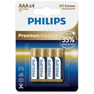 Philips baterie PREMIUM ALKALINE 4ks (LR03E4B/10, AAA, 1,5V)