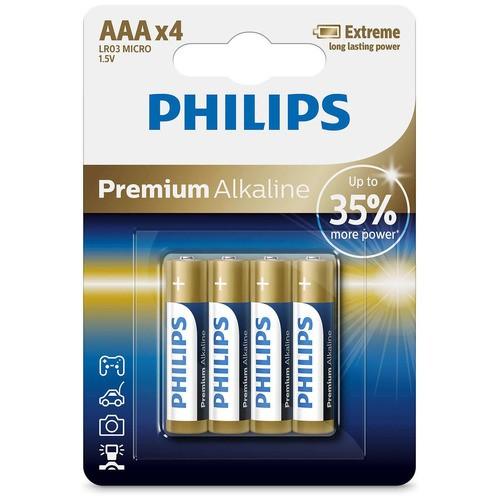 baterie PREMIUM ALKALINE 4ks (LR03E4B/10, AAA, 1,5V)