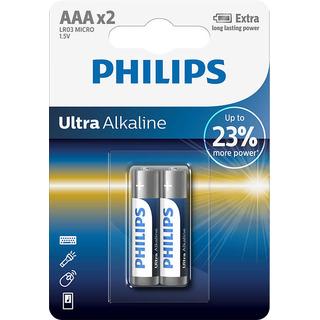 Philips baterie Ultra Alkaline 2ks (LR03E2B/10, AAA, LR3)
