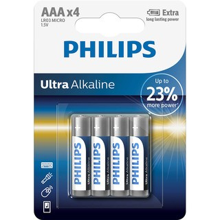 Philips baterie ULTRA ALKALINE 4ks (LR03E4B/10, AAA, 1,5V)