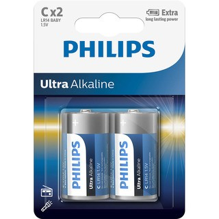 "Philips baterie ULTRA ALKALINE typ""C"" (LR14E2B/10, 2ks)"