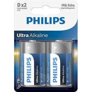 baterie ULTRA ALKALINE (LR20E2B/10, 2ks)