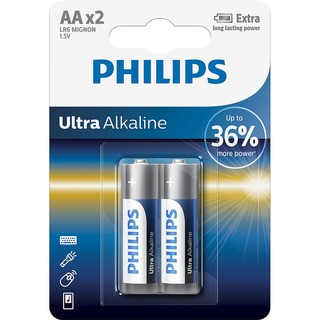 Philips baterie ULTRA ALKALINE 2ks (LR6E2B/10, AA, 1,5V)