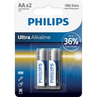 Philips baterie Ultra Alkaline 2ks (LR6E2B/10, AA, LR6)