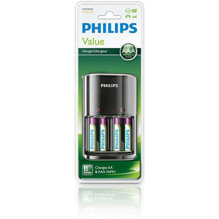 Philips MultiLife nabíječka na tužkové baterie (SCB1450NB/12) + 4x AAA NiMH 800mAh