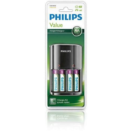 MultiLife nabíječka na tužkové baterie (SCB1490NB/12) + 2x AA NiMH 2100mAh