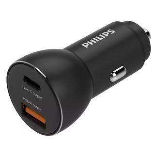 Philips DLP2521/00 - nabíječka do auta s porty 1x USB-A + 1x USB-C