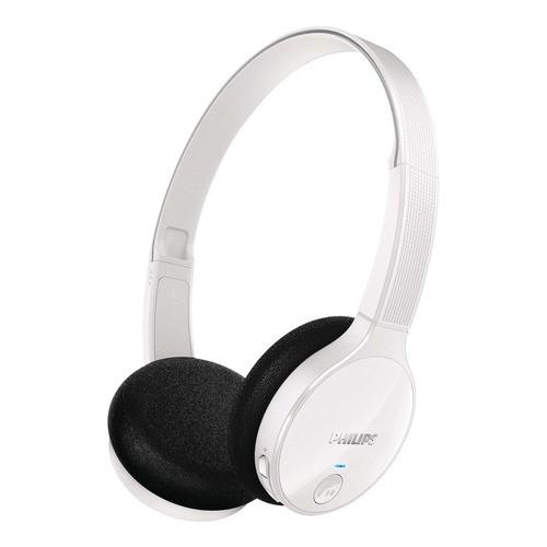 Philips SHB4000/10 - bílé bezdrátová sluchátka na uši s připojením Bluetooth