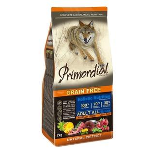 Primordial Adult Tuna & Lamb 2kg - bezobilné granule pro dospělé psy (tuňák a jehněčí)