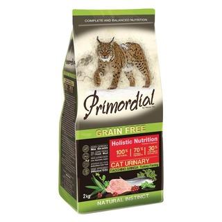 Primordial Cat Urinary Turkey & Herring 2 kg - bezobilné granule pro kočky s problémy s močovým měchýřem (krůta a sleď )