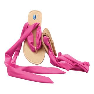 Scholl Pocket Ballerina Sandals - černé/růžové baleríny