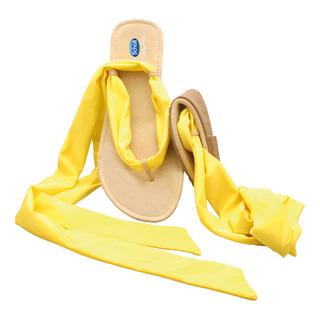 Scholl Pocket Ballerina Sandals - žluté/černé baleríny