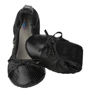 Scholl Pocket Ballerina CROCO - černé baleríny