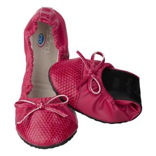 Scholl Pocket Ballerina CROCO - červené baleríny