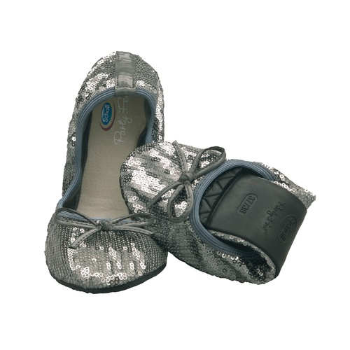 Pocket Ballerina PAILLETTES - stříbrné baleríny - EU 41-42