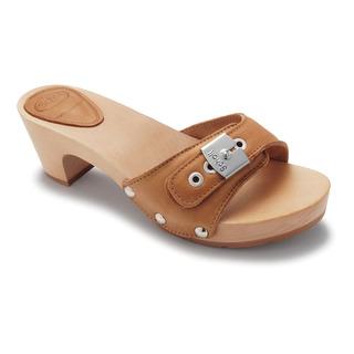 Scholl BAND TEXAS hnědé dřeváky (pantofle)