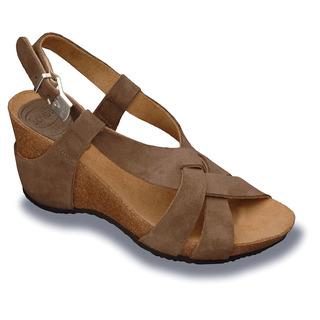 Scholl CORANTA - tmavě šedé semišové módní sandály