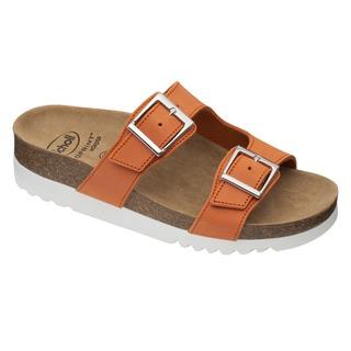 Scholl FILIPPA - oranžové zdravotní pantofle