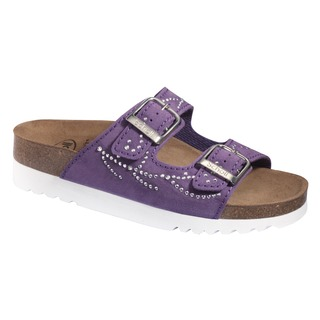 Scholl MALAREN fialové zdravotní pantofle (model 2020)