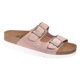 Scholl MALAREN světle růžové zdravotní pantofle (model 2020)