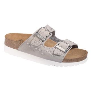 Scholl MALAREN světle šedé zdravotní pantofle (model 2020)