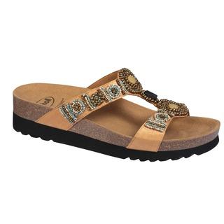 Scholl NEW BOGOTA' WEDGE - zlaté zdravotní pantofle