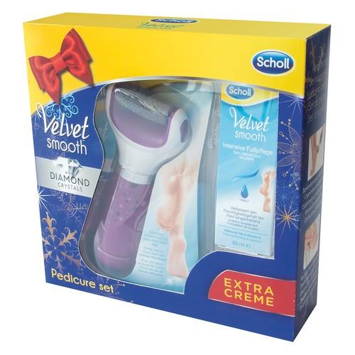 Velvet Smooth elektrický pilník na chodidla - fialový + Noční maska 60ml (dárkové balení)