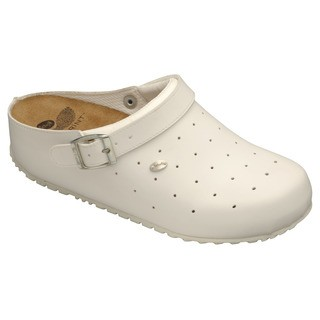 Scholl CLOG SOPHY bílé zdravotní pantofle