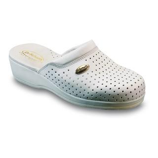 Scholl CLOG BACK GUARD - bílé zdravotní pantofle