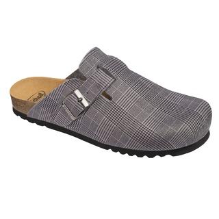 Scholl AMIATA MAN - šedá domácí zdravotní obuv