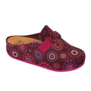 Scholl LARETH fialově vícebarevná - domácí zdravotní obuv